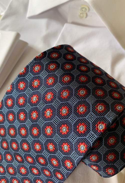 Red Poppy Rows Tie
