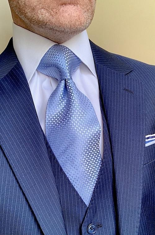 Cubic Baby Blue Sheen Tie