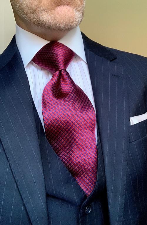 Rose Red Diamond Sheen Tie