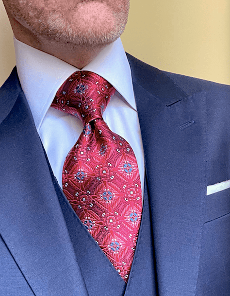 NEW - Red Snow Crystal Sheen Tie