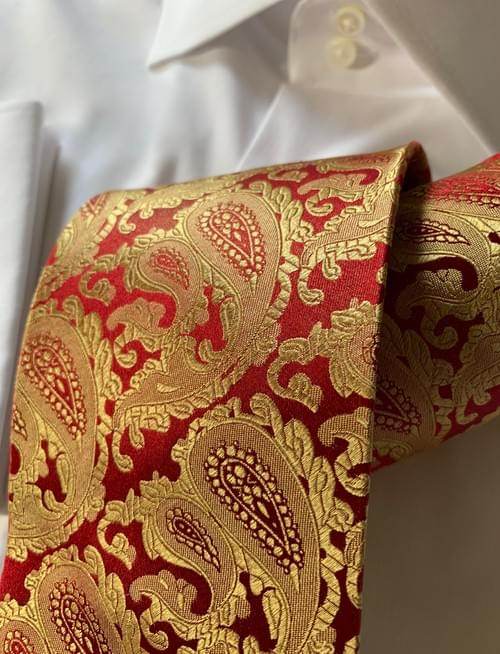 NEW - Dragon Fire Paisley Tie