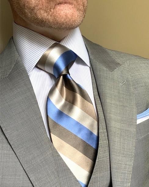 NEW - Sky Dunes Satin Striped Tie