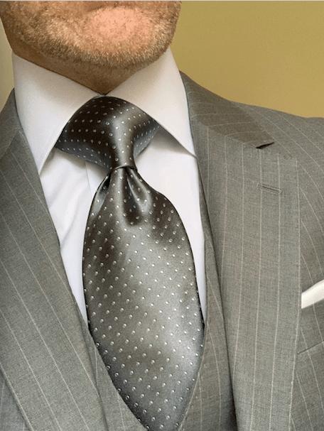 NEW - Silver Micro-Dot Tie