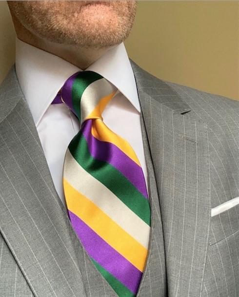 NEW -Wimbledon Sunshine Satin Striped Tie