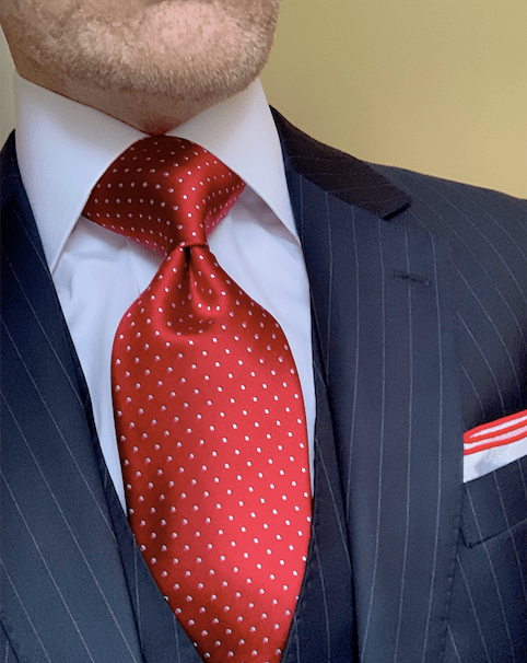 NEW - Red Micro-Dot Tie