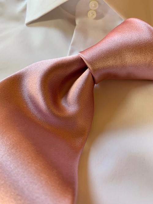 NEW - Ballet Pink Solid Satin Tie