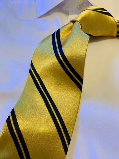 Back in Stock: Gold with Black Academic Stripe Tie