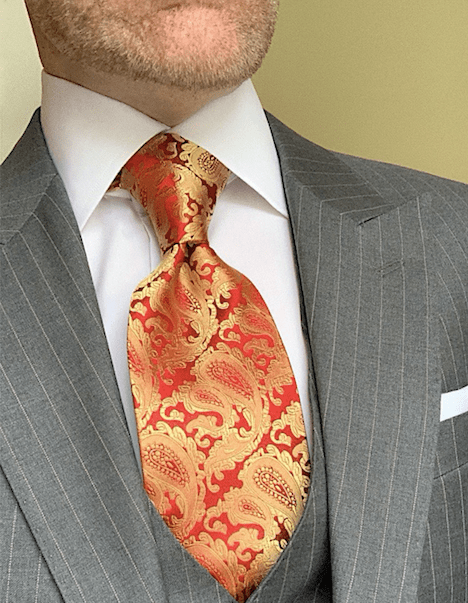 BACK IN STOCK - Dragon Fire Paisley Tie
