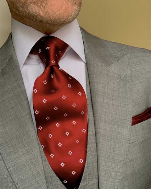 Burgundy Diamond Dots Tie