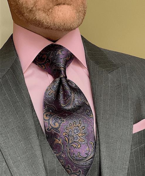 NEW - Autumn Purple Paisley Tie