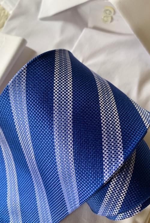 Summer Blue Basket Striped Tie
