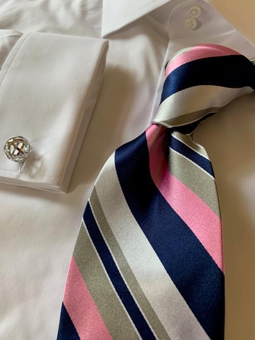 Lukas Striped Tie - Pink