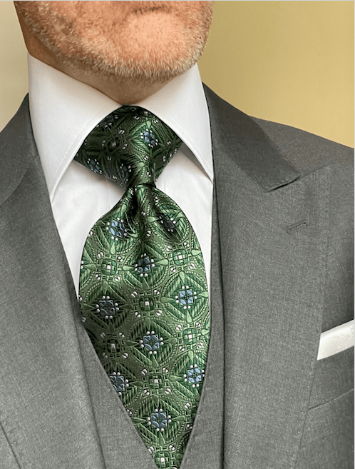 NEW - Green Snow Crystal Sheen Tie