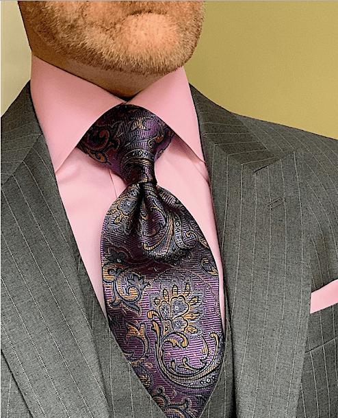 Autumn Purple Paisley Tie