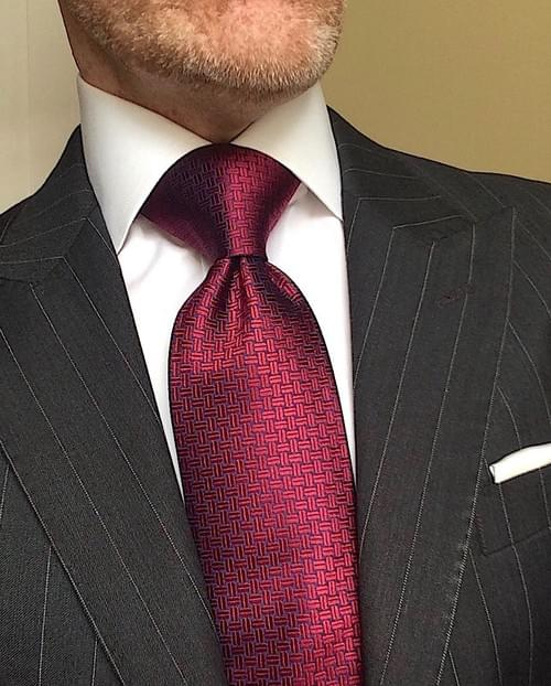 CLEARANCE: Burgundy Navy Basketweave Tie