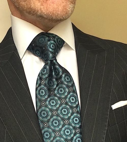 Aqua Green Medallion Tie
