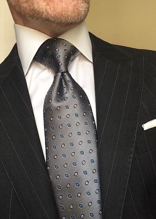 CLEARANCE: Silver Horizon Geometric Tie