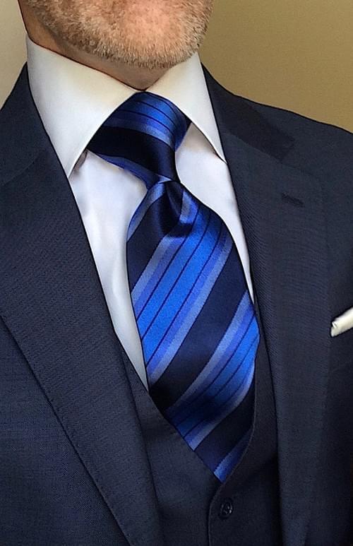 Quattuor Caeruleum Striped Tie