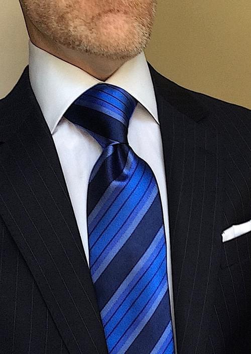 CLEARANCE: Quattuor Caeruleum Striped Tie