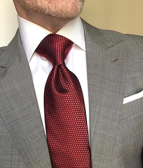 CLEARANCE: Sunset Red Dot Tie