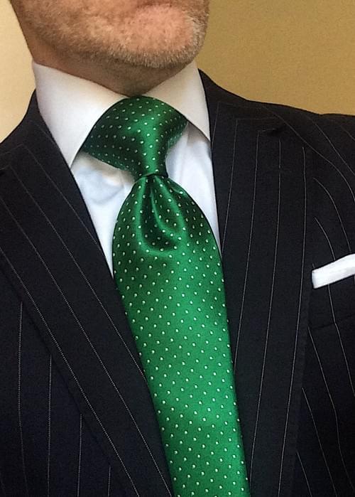Evergreen Micro-Dot Tie