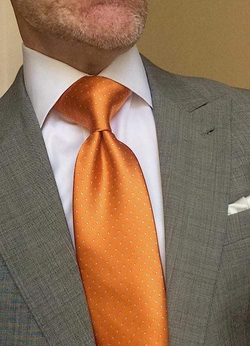 CLEARANCE: Tangerine Micro-Dot Tie
