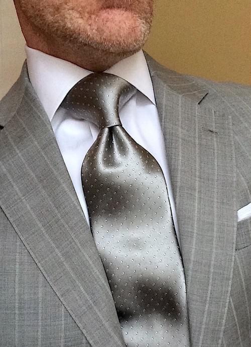 Silver Micro-Dot Tie