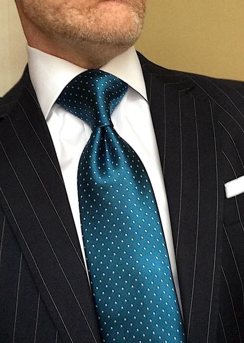 CLEARANCE: Teal Micro-Dot Tie