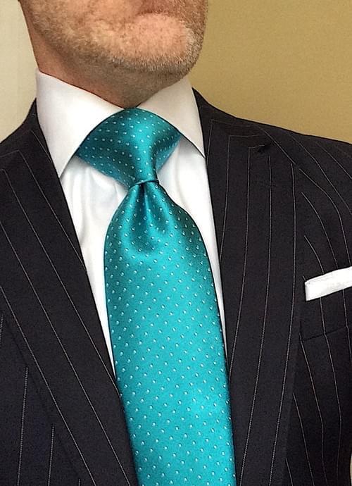 CLEARANCE: Aqua Micro-Dot Tie