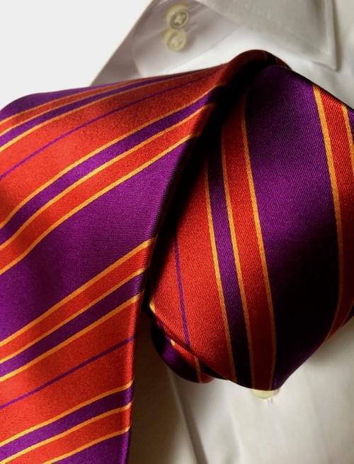 CLEARANCE: Fiery Plum Striped Tie