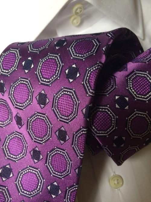 CLEARANCE: Purple Satin Medallion Tie