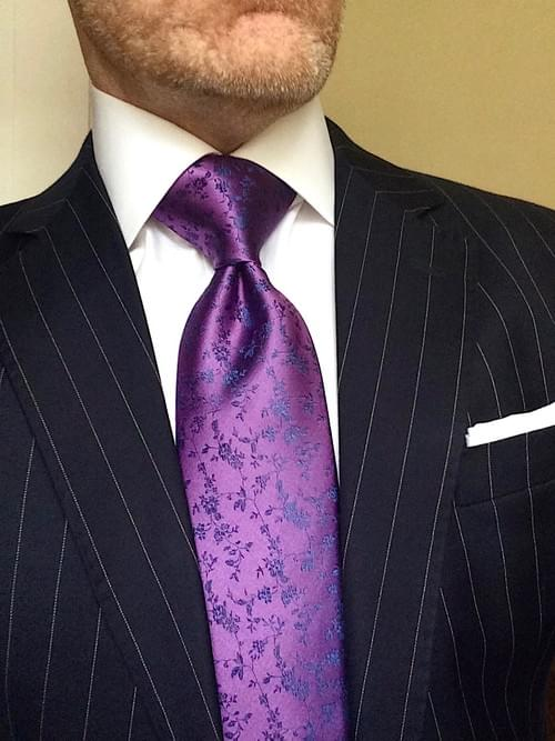 Violet Vines Tie