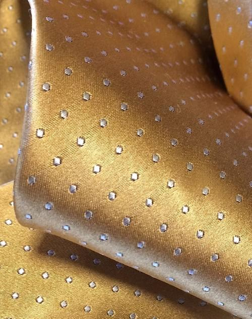 Gold Micro-Dot Tie