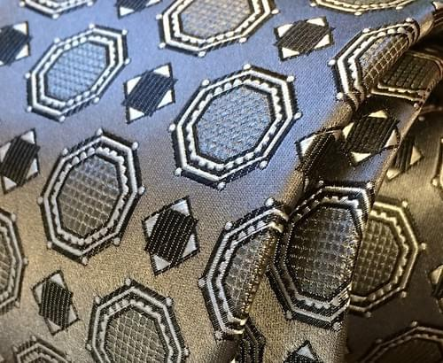 CLEARANCE: Silver Satin Medallion Tie