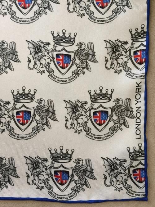 London York Crest Silk Handkerchief (Color)