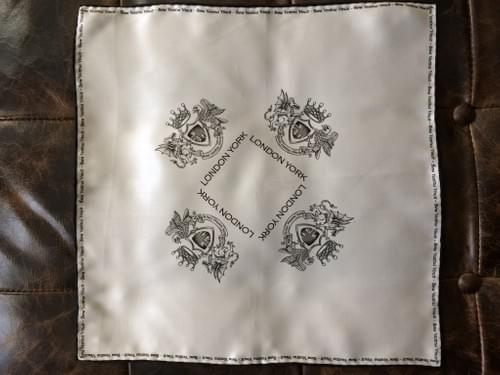 Latin Border Silk Handkerchief