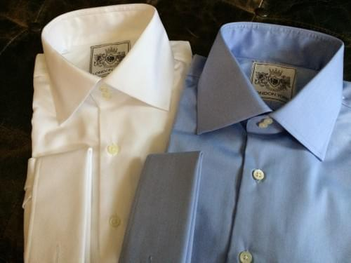 French Blue Wrinkle Free Tailored Executive Shirt