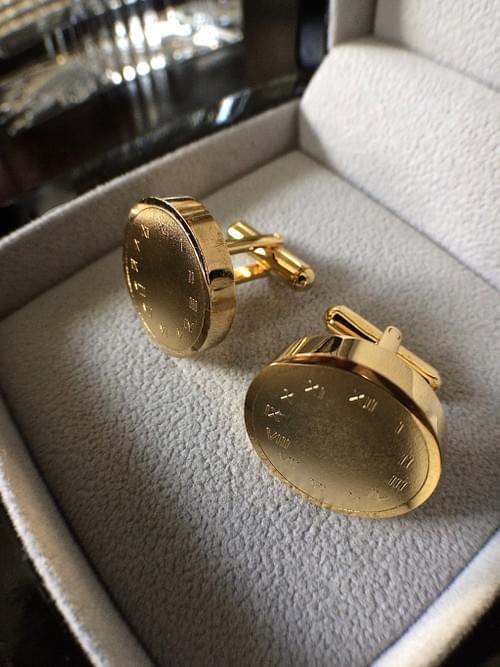 Timeless & Forever 24K Gold-Plated Cufflinks