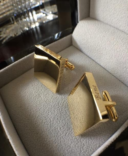Square Smooth 24K Gold-Plated Cufflinks