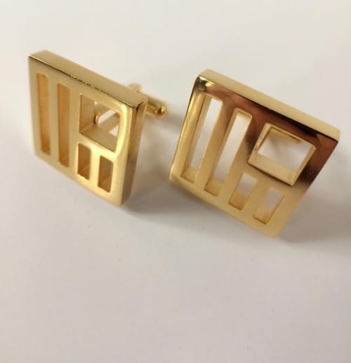 United States 24K Gold-Plated Cufflinks