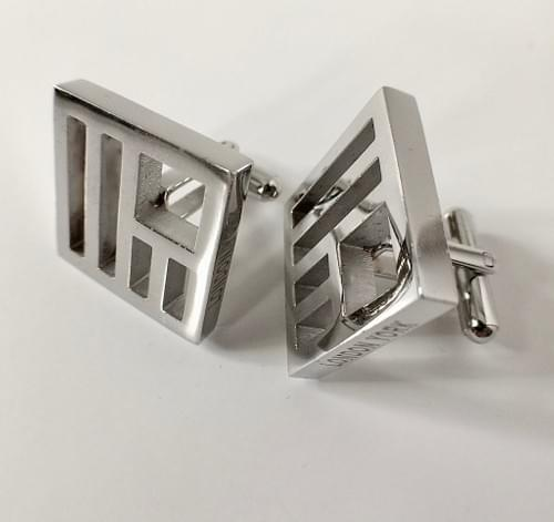 United States Polished Steel Cufflinks
