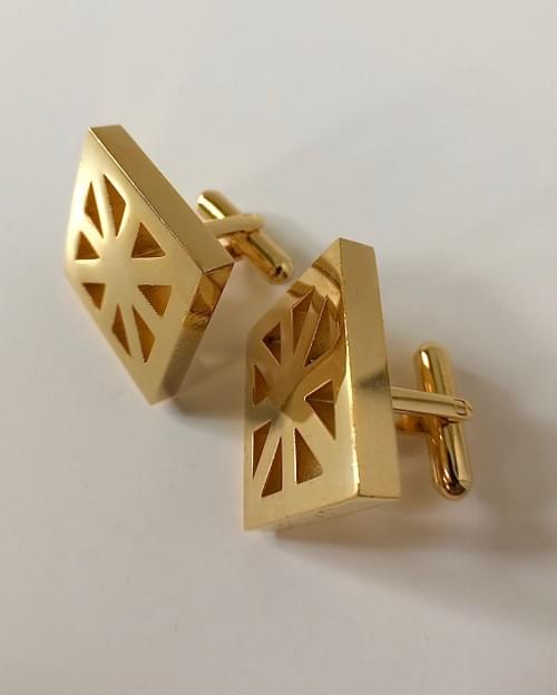 United Kingdom 24K Gold-Plated Cufflinks