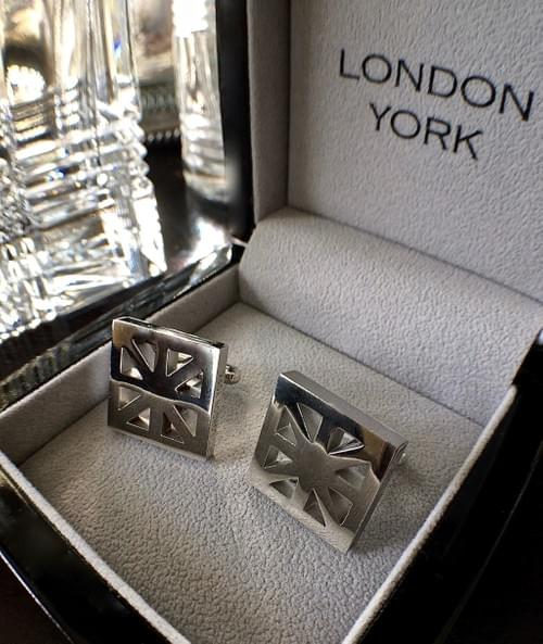United Kingdom Polished Steel Cufflinks