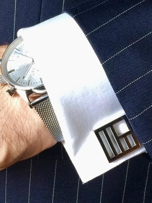 United States Polished Steel Cufflinks