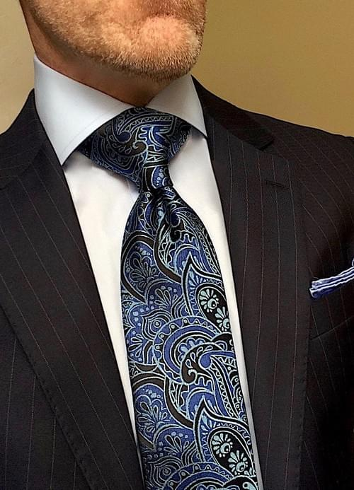 CLEARANCE: Medley of Blue Paisley Tie
