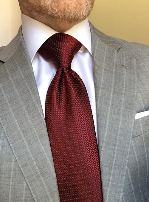 CLEARANCE: Burgundy Sheen Micro-Squares Tie