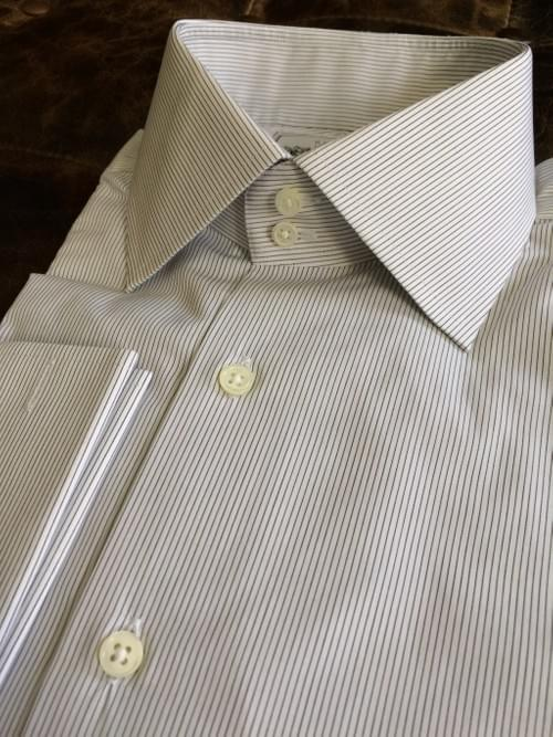 Black Thin Stripe Tailored Executive Shirt