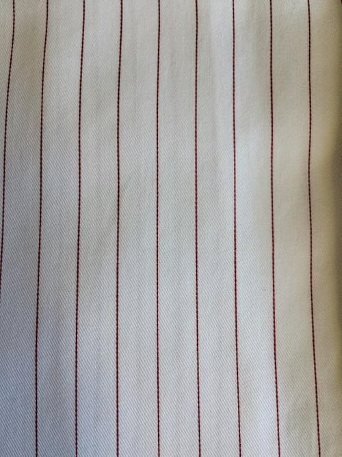 Burgundy Pencil Stripe Tailored Executive Shirt