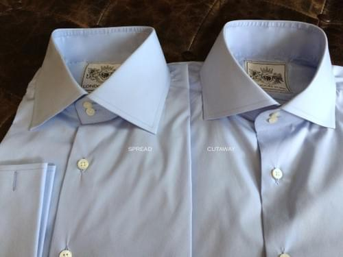 Solid Light Blue Tailored Executive Shirt