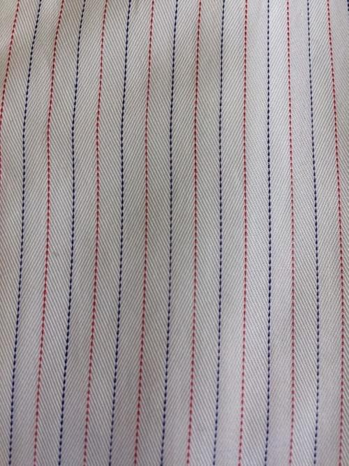 Red & Navy Thin Stripe Tailored Executive Shirt